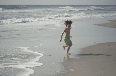 Running from the wave monster