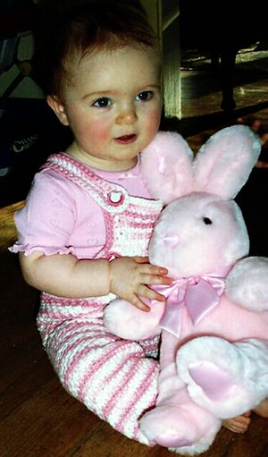 Baby india with bunny